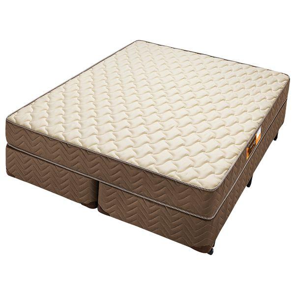 Cama-Box-Casal-Tamanho-Queen-c--Colchao-de-Espuma-D45-Americanflex-Pro-Coluna-158-X-198-X-59-cm