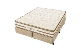 Cama-Box-Queen-c--Colchao-de-Espuma-D45-Americanflex-Clinoflex-Bambu-158-X-198-X-65-cm