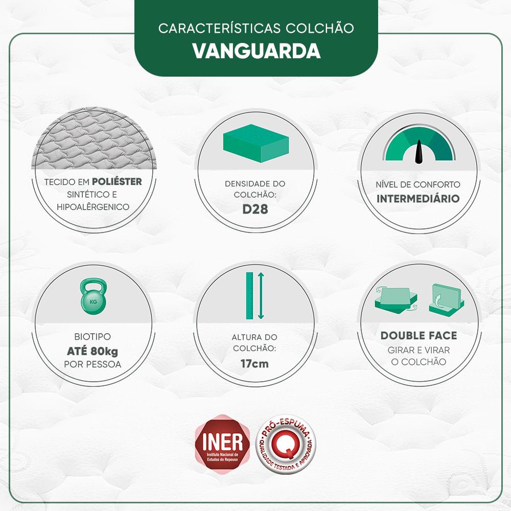 Colchão Casal Espuma D28 Minaspuma Vanguarda II 138x188x17cm